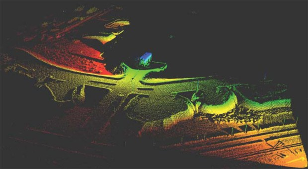 Data combined from two scanners with five seconds of lidar data.