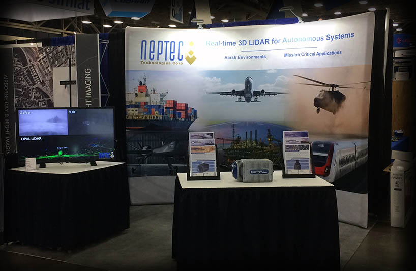 Neptec booth at Xponential 2017